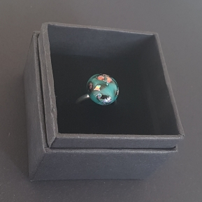 Pretty In . . . Ring PIRSS003 £18 Handmade fused glass, adjustable sterling silver ring
